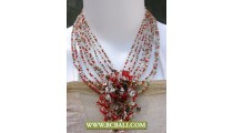 Fancy Chockers Necklace multiple Beading with Stone Pendants