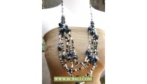 Mix Beads with Black Stone Fashion Necklace