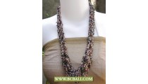 Mix Colors Necklace Seed Beading