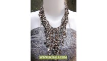 Mix Colors Squins Casandra Fashion with Stones Necklace