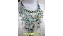 Multi Coloring Casandra Necklaces Beaded with Stone