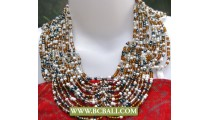 Multi Beads Buterfly Necklaces Chockers