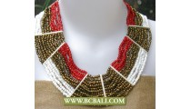 Mix Colors Beads Necklaces Chockers Fashion