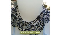 Black and white Buterfly Chockers Beading Necklaces