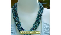 Squins Fashion Necklaces Seed Mix Colors
