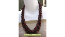 Squins Seed Fashion Necklace mix Color