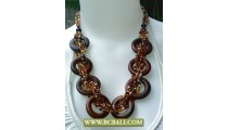 Wooden mix Beaded Fashion Necklace