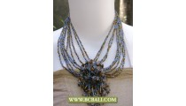Multi Beads Necklace Chockers