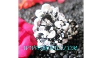 Beaded Stones Rings Fashion