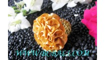 Polyster Fabric Rings Flower