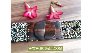 Bali Fashion Belt Beads with Woods Buckle
