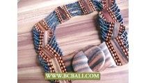 Bali Handmade Paua Beads Belt Stretch Fashion