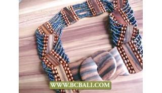Bali Handmade Paua Beads Belt Stretch Fashion