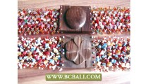 Bcbali Belts Fashion Beading with Wooden Buckle