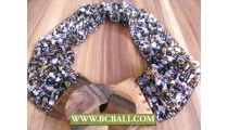Beaded Belt Fashion with Wooden Buckle