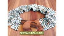 Belt Stertch Beaded Fashion Wooden Clasps