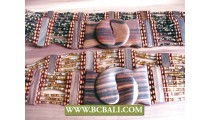Multi Color Beaded Belt Fashion Bali