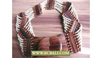 White Bead Belt Fashion Wooden Claps
