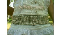 Beaded Belt Stretching Women's