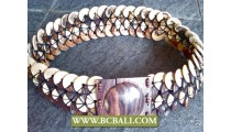 Woman Fashion Belt Coco Woods with Buckle