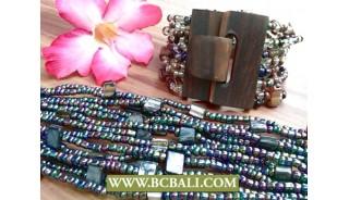 Antique Bracelets Wooden Buckles Stretching