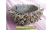 Beading Glass Bracelets Stretching Wristband