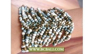 Expandable Glass Beads Stretching Bracelets Bali