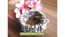 Fancy Classic White Stone Beads Bracelets