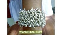 Grass Beads Multi Seeds Streched Bracelets