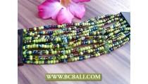 Ladies Bracelets Wooden Belts Gesper Beads