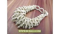 Mono Color Beads Bracelets Multi Wired Designs