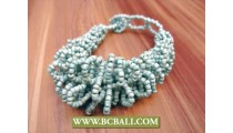 Mono Color Beads Bracelets Multi Wired