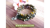 Natural Beads Stone Roll Circle Bracelets