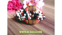 casual wooden stretch beaded bracelets fashion