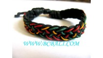 Bracelets Leather Hemp Men's