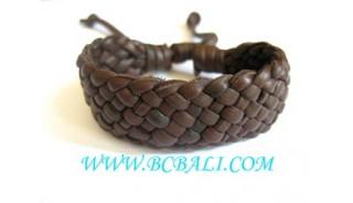 Brown genuine Leather Hemp Bracelets