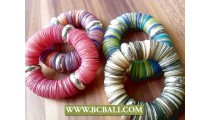 beads coins shells bracelet stretching Designs