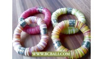 coins shells bracelet stretched designs bali