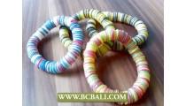 Mix Coloring Coco Button Stretch Bracelets