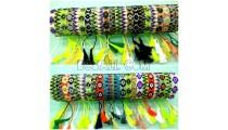 bali tassel bracelets beads crystal motif small handmade