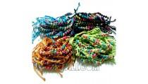 friendship braids bracelets mono color leather Strings