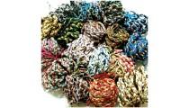 leather hemp bracelet friendship braids mix colors