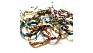 multi color leather hemp bracelets braids friendship