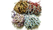 4 mix leather string hemp bracelets braid friendship