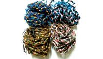 4 color leather strings hemp bracelets braid friendship