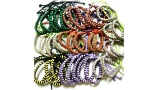 Mix color braid bracelet friendship leather strings