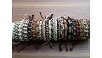 natural hemp friendship bracelets straw leather