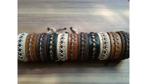 genuine leather friendship bracelets handmade