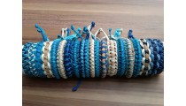 genuine leather hemp bracelets braids friendship
