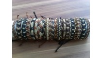 natural straw leather bracelets hemp